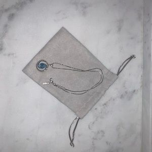 Lenox Silver Necklace with Sapphire Gemstone